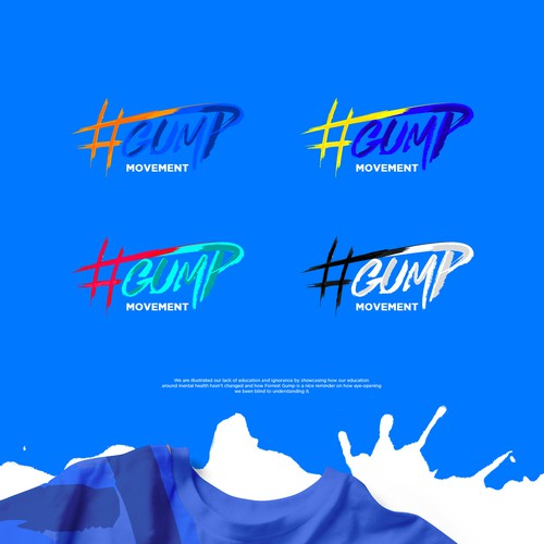 Splash logo with the title '#gump'