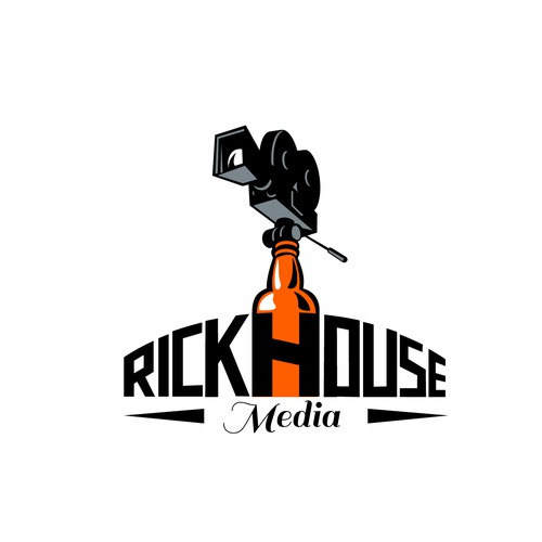 Rum logo with the title 'Rickhouse Media'