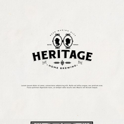 Hops logo with the title 'Heritage Home Brewery'
