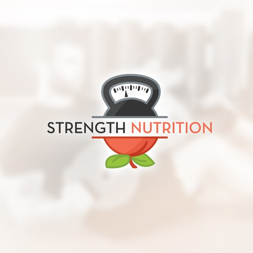 Weight logo with the title 'Logo concept for Strength Nutrition'