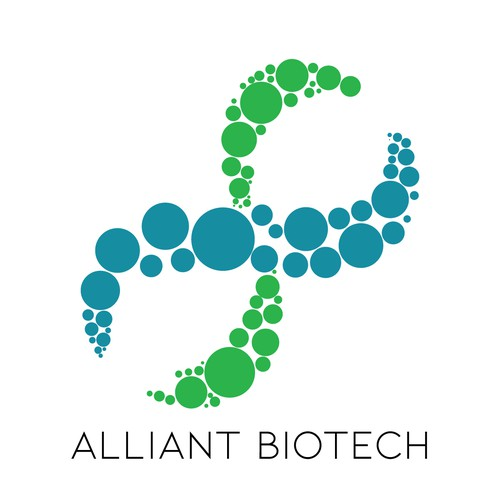 Biotech logo with the title 'Logo Concept for Bio-Tech Company'