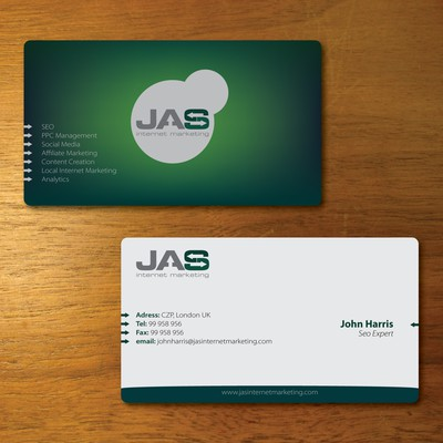 Business Card for JAS Internet Marketing