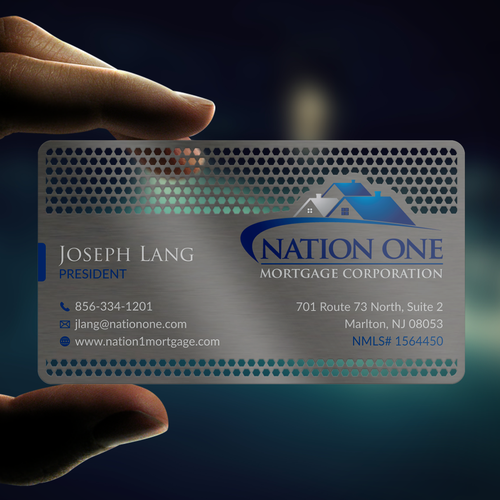 Metal design with the title 'Metal Business Card'