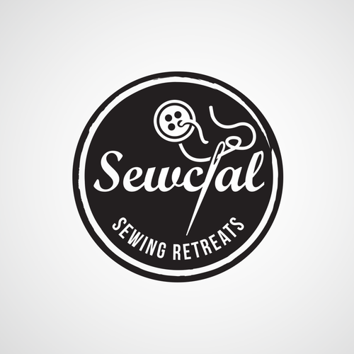 Sewing design with the title 'Logo for Sewcial, a company who produce sewing retreats'