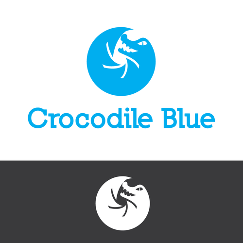 Popular logo with the title 'Crocodile Blue'