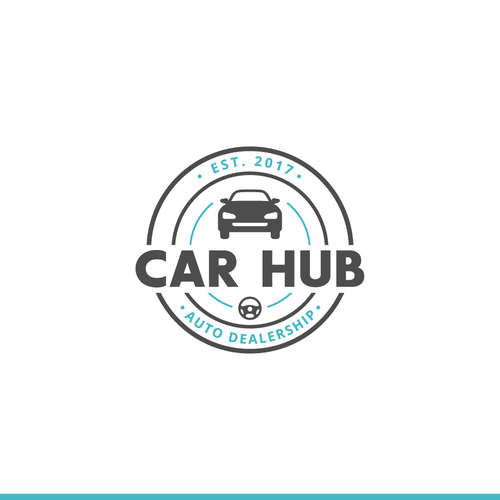 Dealership logo with the title 'Badge-Type Logo for Car Dealership'