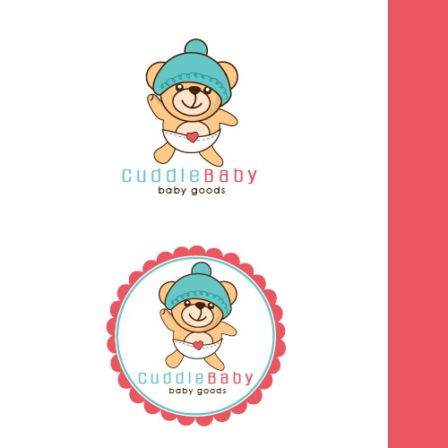 Baby logo with the title 'cute baby logo design'