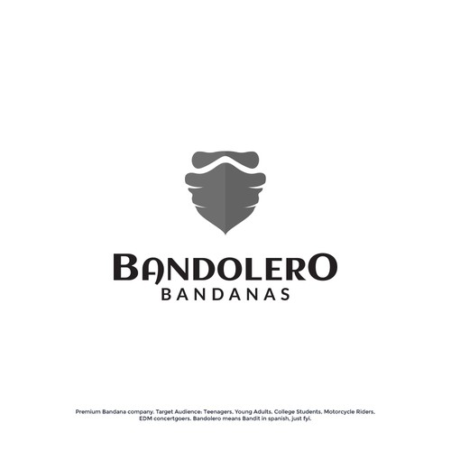 Bandit logo with the title 'Bandolero Bandanas'
