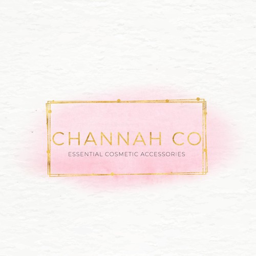Gold foil logo with the title ' Logo Design CHANNAH '