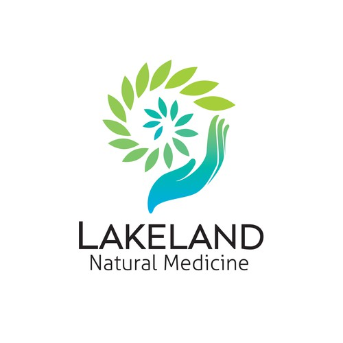 Ayurveda logo with the title 'Logo for Lakeland Natural Medicine'