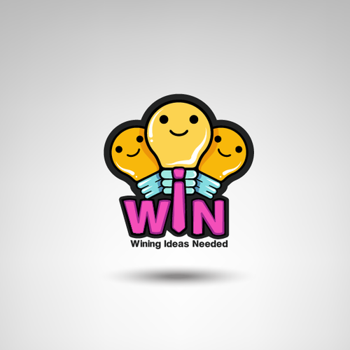 Win logo with the title 'Concept Logo for WIN'