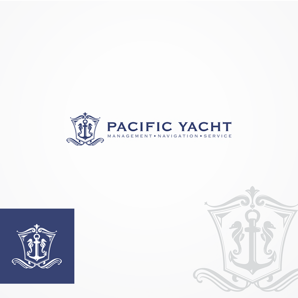 Yacht logo with the title 'Logo concept for Pacific Yacht'