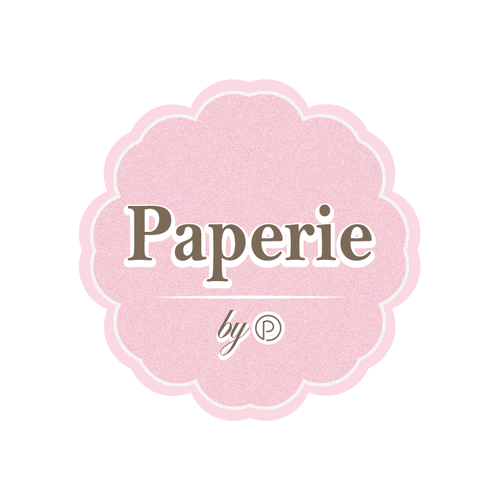 Pink logo with the title 'sticker simple style'