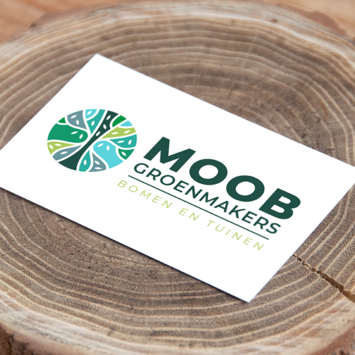 Healthy lifestyle logo with the title 'MOOB Groenmakers'