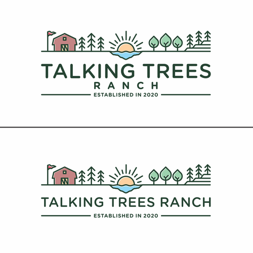 Landscaping logo with the title 'Talking trees Ranch'