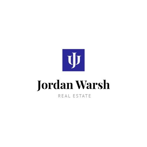 J logo with the title 'Logo Concept | Jordan Warsh'
