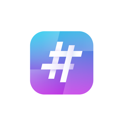 Icon design for Hashtag Generator