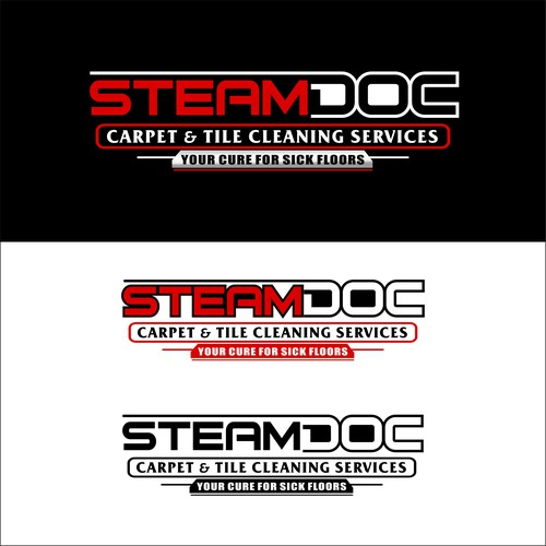 Rug logo with the title 'Steam Doc Carpet & Tile Cleaning Services'
