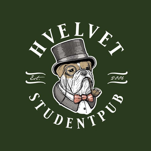 Beer design with the title 'Hvelvet Studentpub'