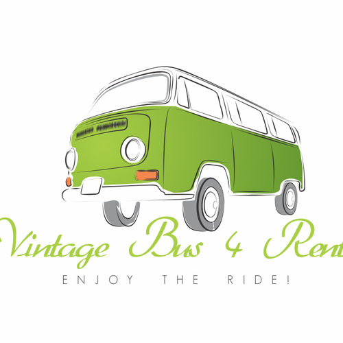 Bus logo with the title 'Create an awesome logo for our Vintage Bus rental company on Ibiza!'
