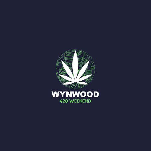 Miami logo with the title 'Wynwood 420 weekend'