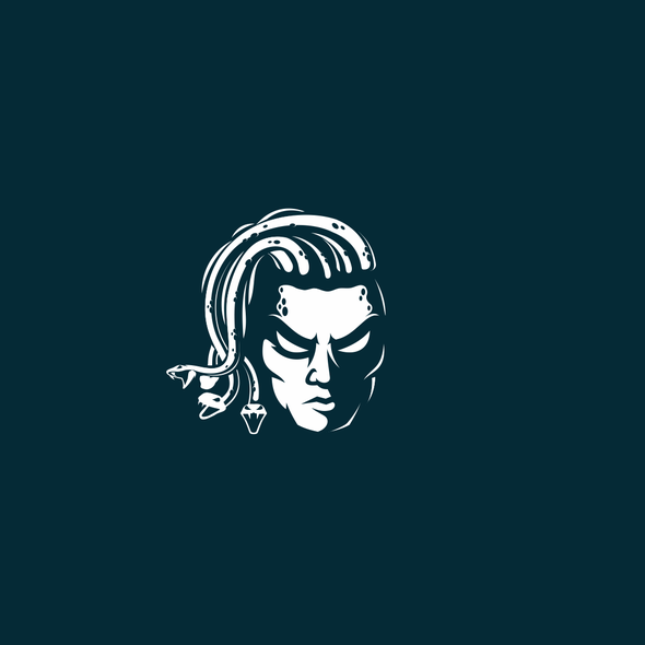Medusa logo with the title 'Logo For EDM DJ/Music Producer'