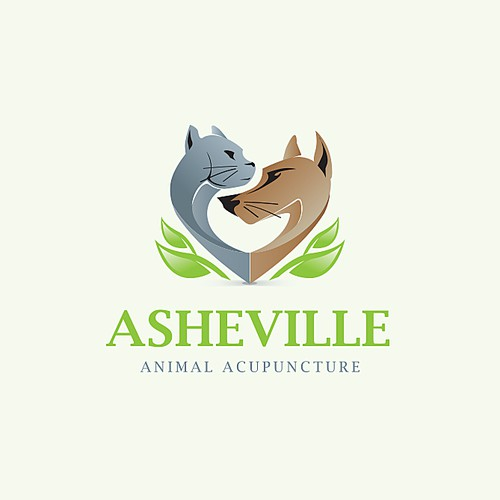 Veterinary logo with the title 'Asheville'