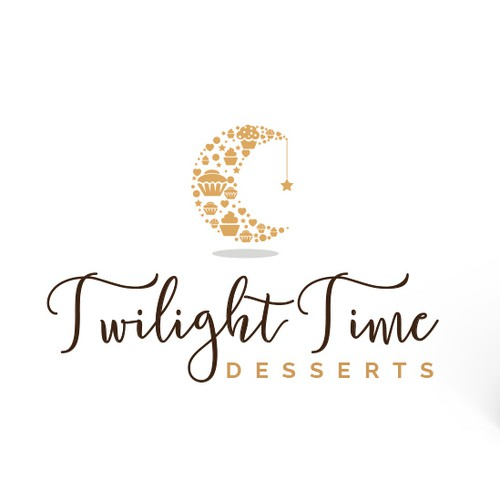 Dessert logo with the title 'Unique and sweet logo for a gluten free baker'