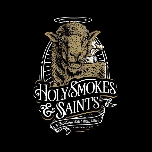 Smoking logo with the title 'Cigar Logo Design'