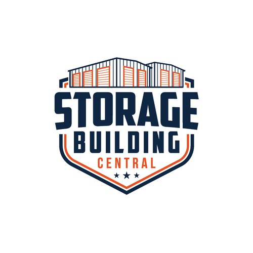 Self storage logo with the title 'storage building central'