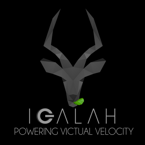 Gazelle design with the title 'Igalah'