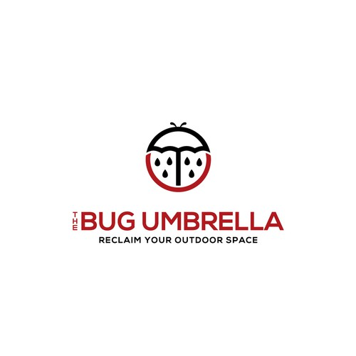 Umbrella logo with the title 'Creative Logo Concept for Outdoor Umbrella'