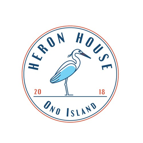 Beach club logo with the title 'Beach house logo'
