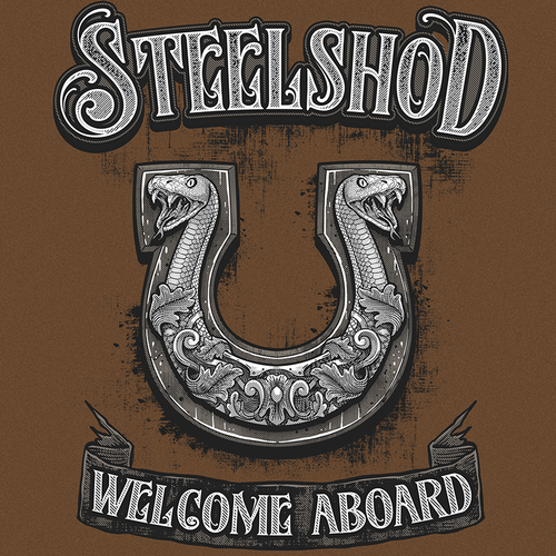 Snake design with the title 'STEELSHOD - Welcome Aboard'