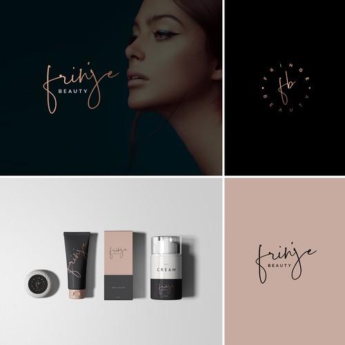 Skincare logo with the title 'Fringe Beauty'