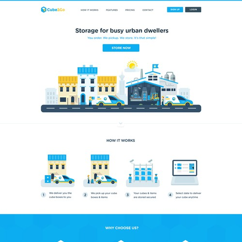 Creative website with the title 'Flat Creative Webdesign'