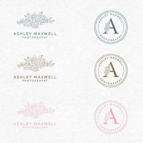 Rose logo with the title 'Wedding Photographer feminine logo'