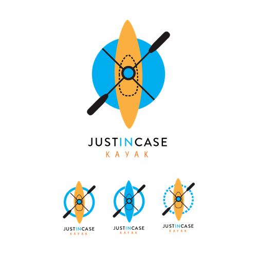 Kayak design with the title 'Logo idea that incorporates product'