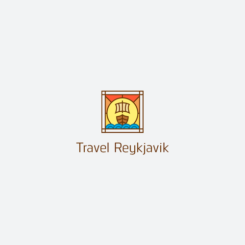 Sunrise logo with the title 'Logo for Icelandic tour operator'