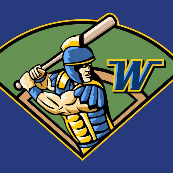 Sport club logo with the title 'Wayzata baseball team logo redesign'