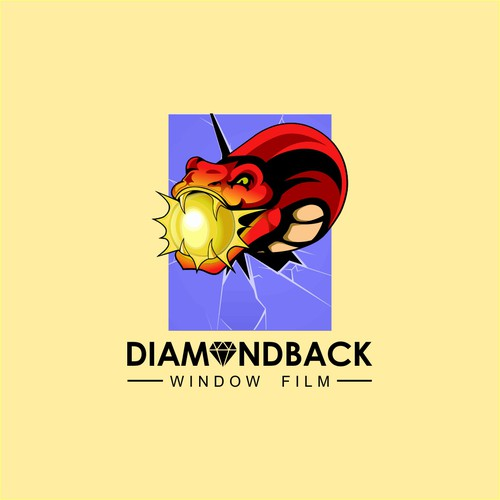 Snake artwork with the title 'DIAMONDBACK'