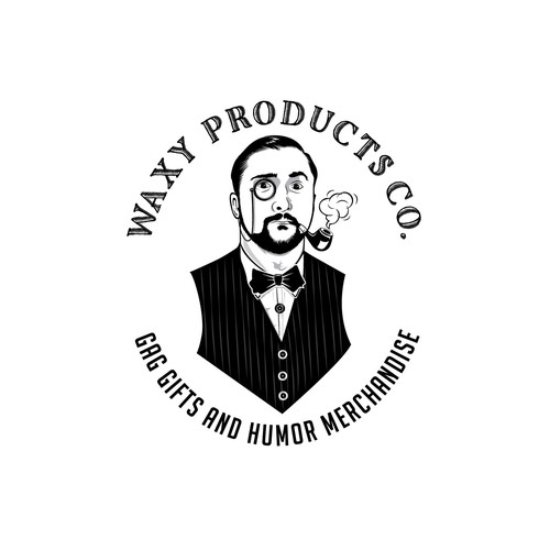 Merchandise logo with the title 'Waxy Products'