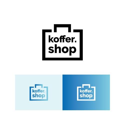 Pack logo with the title 'Logokonzept für einen Koffer Onlineshop'