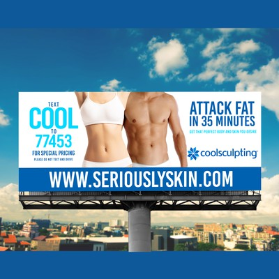 Coolscuplting Billboard for Medical Spa