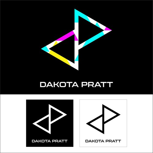 Sculpture logo with the title 'DAKOTA PRATT'