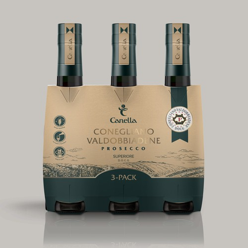 Liquor packaging with the title 'package and Logo design'