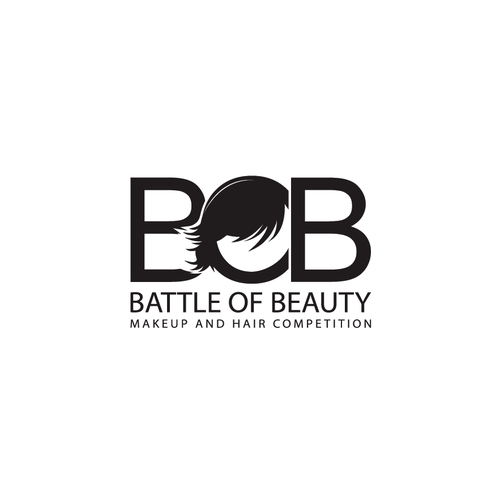 Combat logo with the title 'MAKE UP AND HAIR BATTLE LOGO'