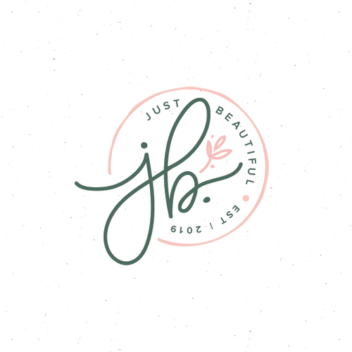 Garment logo with the title 'just beautiful'
