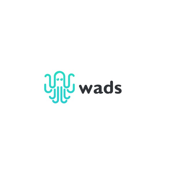 Octopus brand with the title 'Wads app branding'