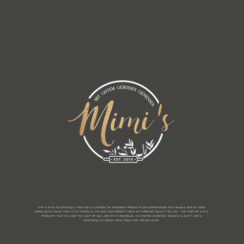 Bakery brand with the title 'Logo Mimi's'